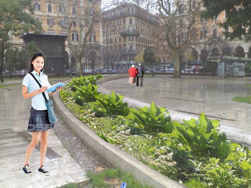 Piazza vittorio project ecco i renderings degrado esquilino for Aiuole profumate