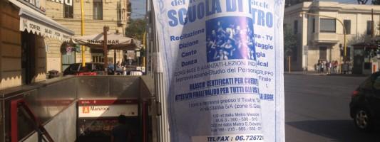 Scuola di Teatro La Soffitta e le affissioni abusive. Un calvario che dura da quattro anni