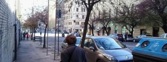 La grande novità di Via Emanuele Filiberto. E non guardate il marciapiede (!!!), guardate il cartellone