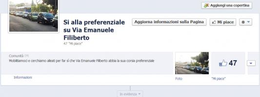Sì alla preferenziale su Via Emanuele Filiberto. C'è la pagina Facebook (e la mozione in Municipio)