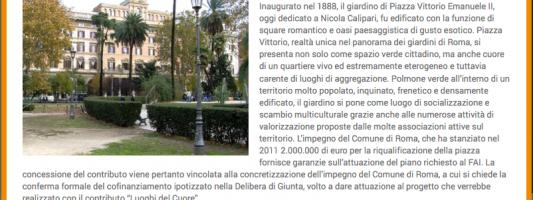 Piazza Vittorio è Luogo del Cuore del Fai