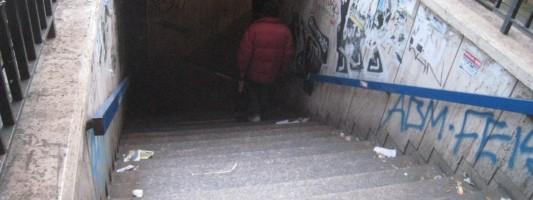 La situazione della stazione Vittorio Emanuele della metro