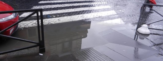 Ancora sui lavori a Piazza Vittorio. Come hanno reagito alle piogge?