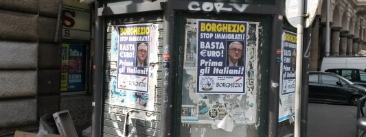 La clamorosa figuraccia di Borghezio all'Esquilino